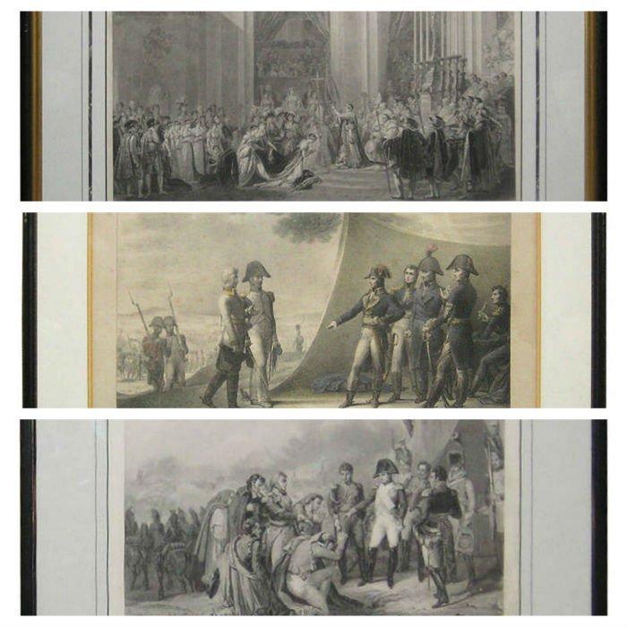 Three Antique Napoleonic Engravings