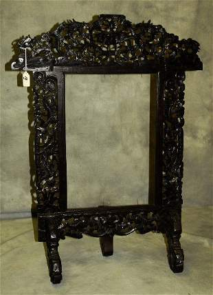 """Antique Chinese carved hardwod table stand, H:32.5"""""""