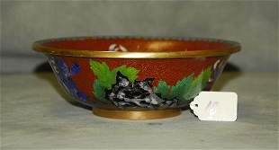 """Chinese cloisonne bowl H:2.75"""" D:8.25"""""""