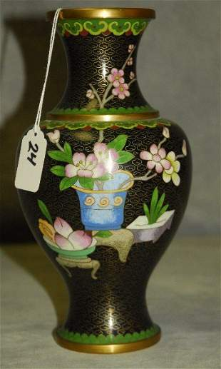 "Chinese cloisonne vase. H:9.5"""