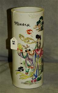 """Antique Chinese porcelain hat stand signed. H:11"""""""