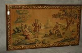 Belgium antique tapestry panel H33 W59