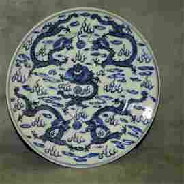 Early Chinese blue and White porcelain plate