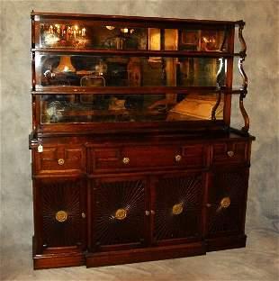 . English Regency style two-part mahogany Chiffonier.