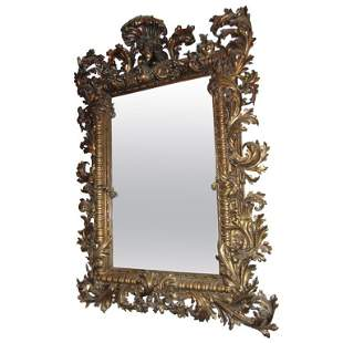 . 18/19th C Rococo style heavily carved and gilded
