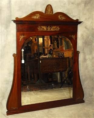 ". Maison Kreiger Empire mahogany mirror. H:58"" W:47"""