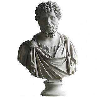 """. Cultured marble bust of Septimus Severus. H:30"""""""