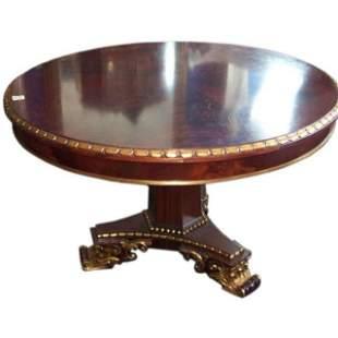 . Large English Regency style mahogany and parcel