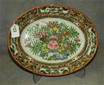 132 Antique Chinese rose canton butterfly porcelain