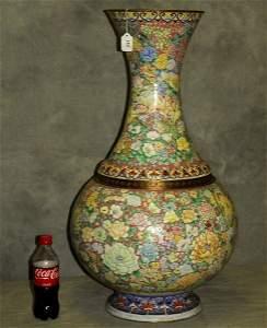 144. Very fine monumental antique Chinese Peking enamel