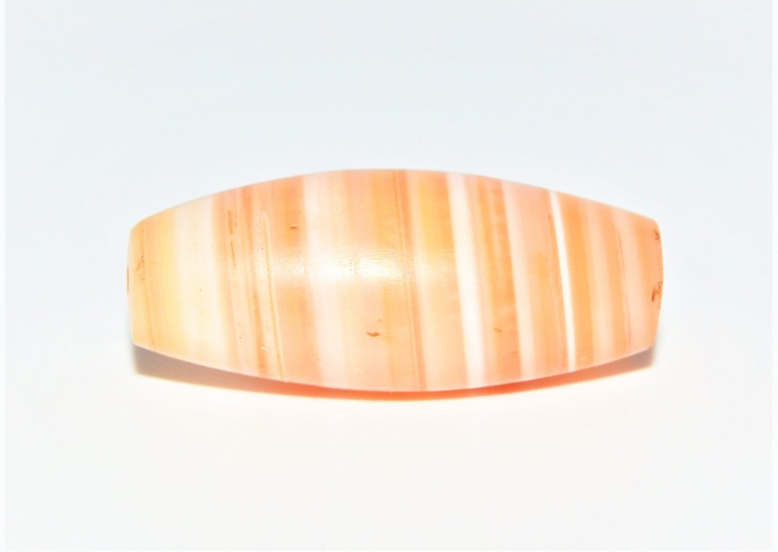 RARE & LARGE ANCIENT STRIPE ETCHED CARNELIAN BEAD