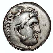 GREEK ALEXANDER III THE GREAT 336323 BC AR DRACHM