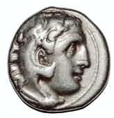 ANCIENT ALEXANDER III THE GREAT 336323 BC AR DRACHM