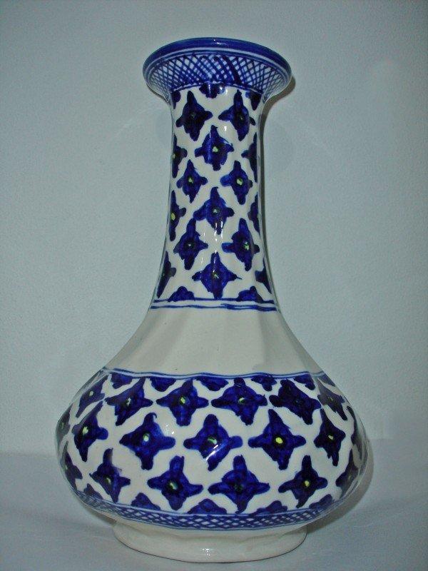 5: An Iznik Blue & White Vase