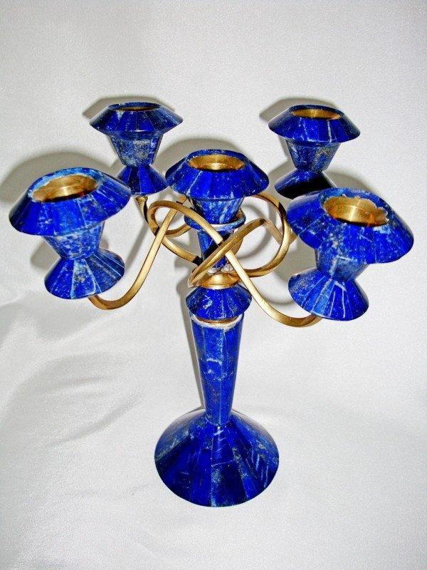 8: Lapiz Lazoli Candle Stand