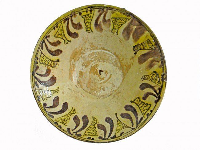 6: A NISHAPUR CONICAL POTTERY   BOWL , PERSIAN 11TH CEN