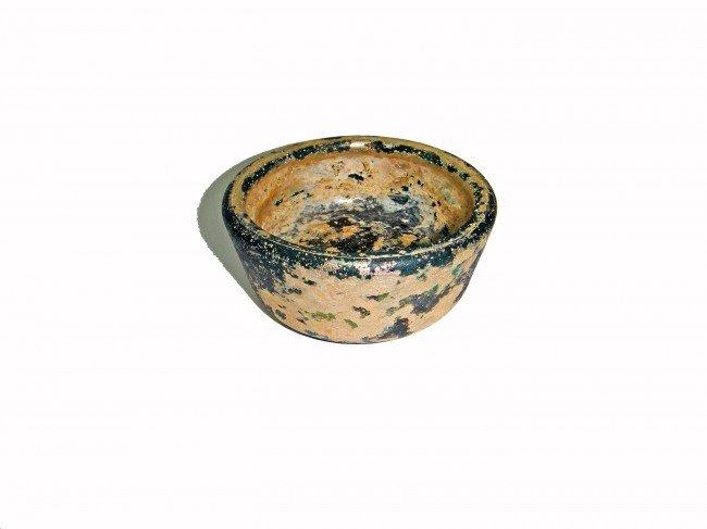 20: A PERSIAN GREEN BOWL GLASS NORTH IRAN 10TH CENTURY