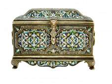 90: A RUSSIAN IMPERIAL SILVER JEWELLERY BOX