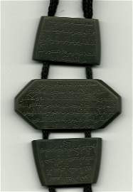 4: A TIMURID DARK-GREEN JADE TALISMAN ARMLET , 16TH CEN