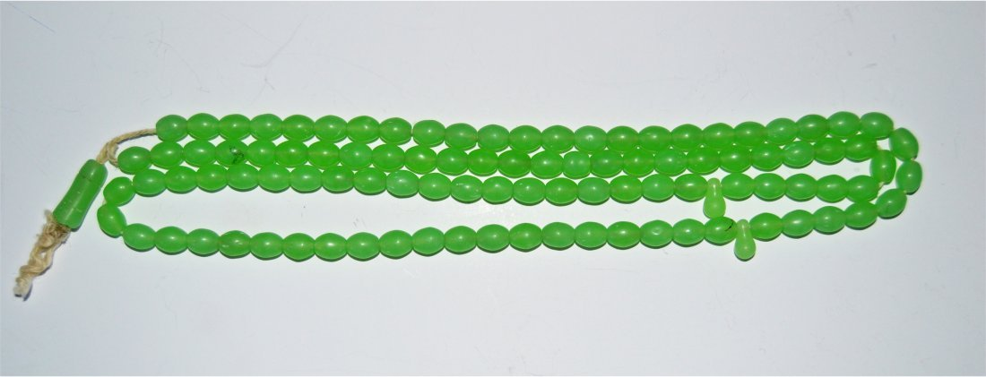 A Unique Shah Maqsood Green Stone Beads Prayer Beads