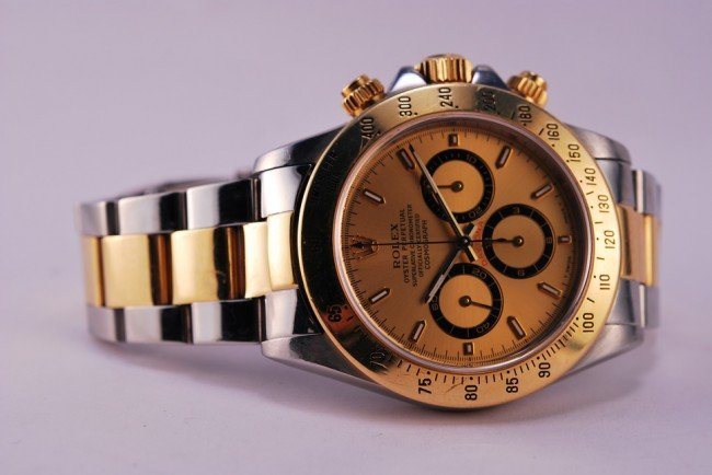 191: Rolex DAYTONA 18k & SS. BOX AND PAPERS