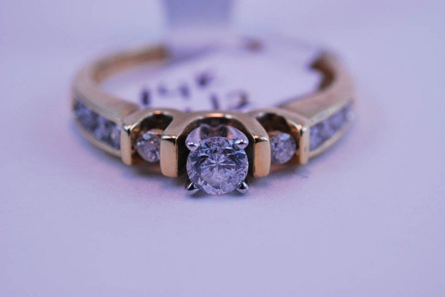 1: Tray#1B 14k Diamond Engagement ring Rnd CTR 1/2 CT w
