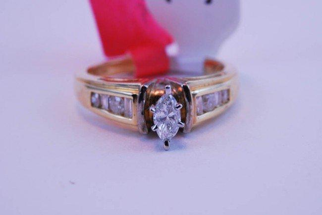 3: Tray#1B 14k Marquis Diamond Engagement ring .60 CT w