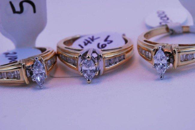 5: Tray#1B 14k Marquis Diamond Engagement rings .65 CT