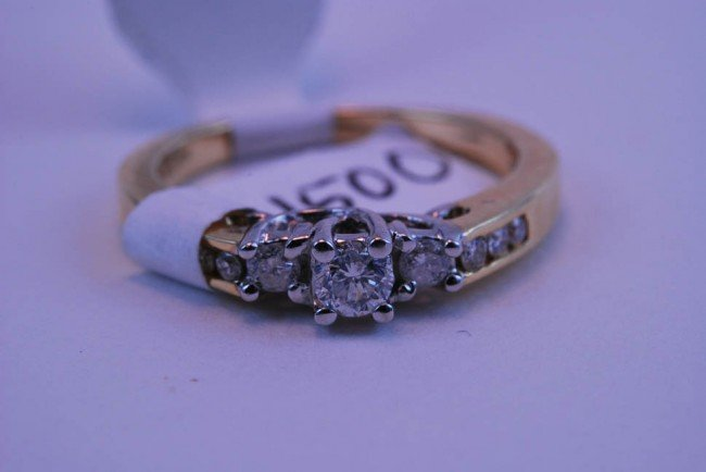 6: Tray#1B 14k Diamond Engagement ring rnd CTR .60 CT t