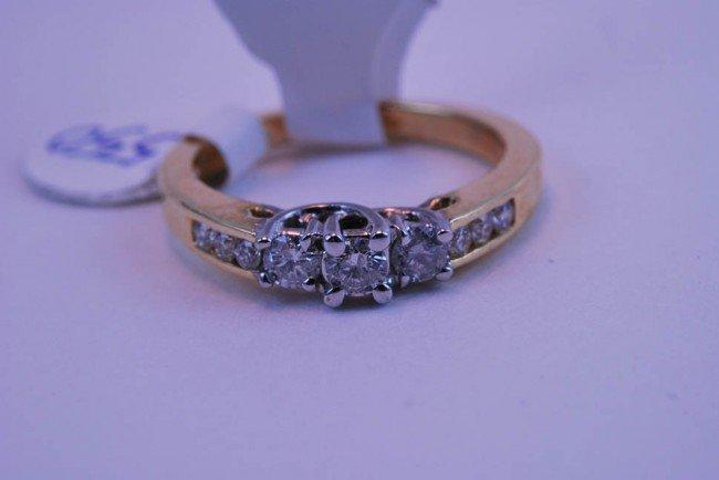 7: Tray#1B 14k Diamond Engagement ring rnd CTR .60 CT t