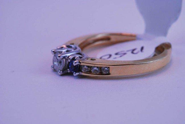 8: Tray#1B 14k Diamond Engagement ring rnd CTR .60 CT t