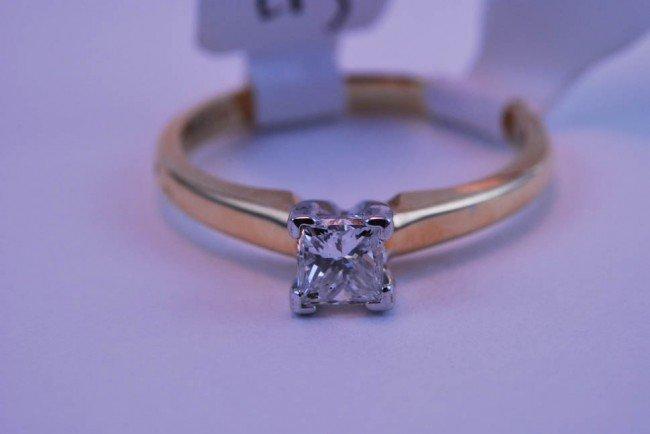 9: Tray#1B 14k Diamond Engagement Princess Solitare .47
