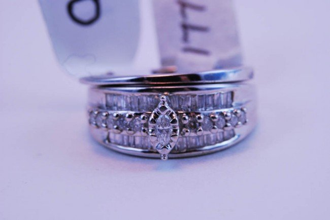10: Tray#1B 14k WG Diamond Engagement set  .60 CT TW Es