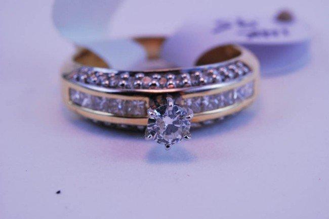 16: Tray#1B 14k Rnd Ctr Diamond Engagement ring .95 CT