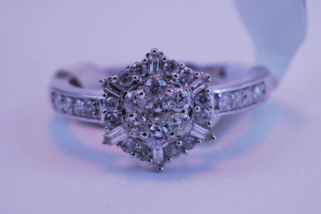 17: Tray#1B 14k WG Rnd flower Diamond Engagement ring 1