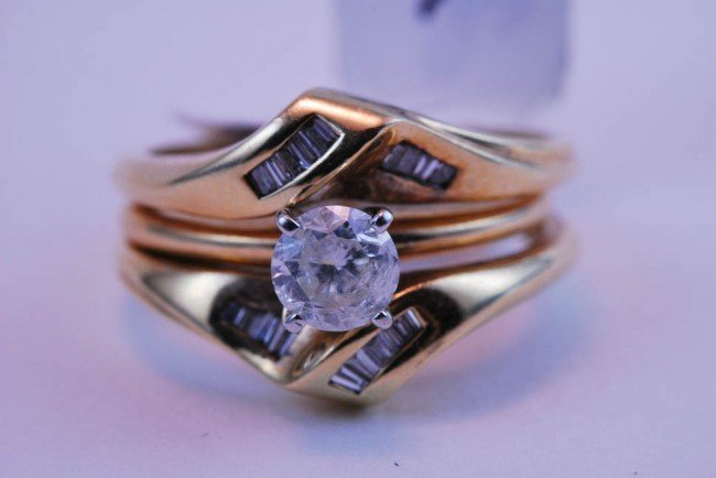 22: Tray#1B 14k  Prnc Ctr Dia Engagement ring .60 CT =/