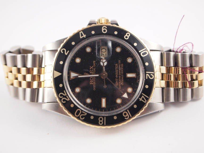 7: Rolex Mens 18k & SS GMT-Master. Jubilee Bracelet.