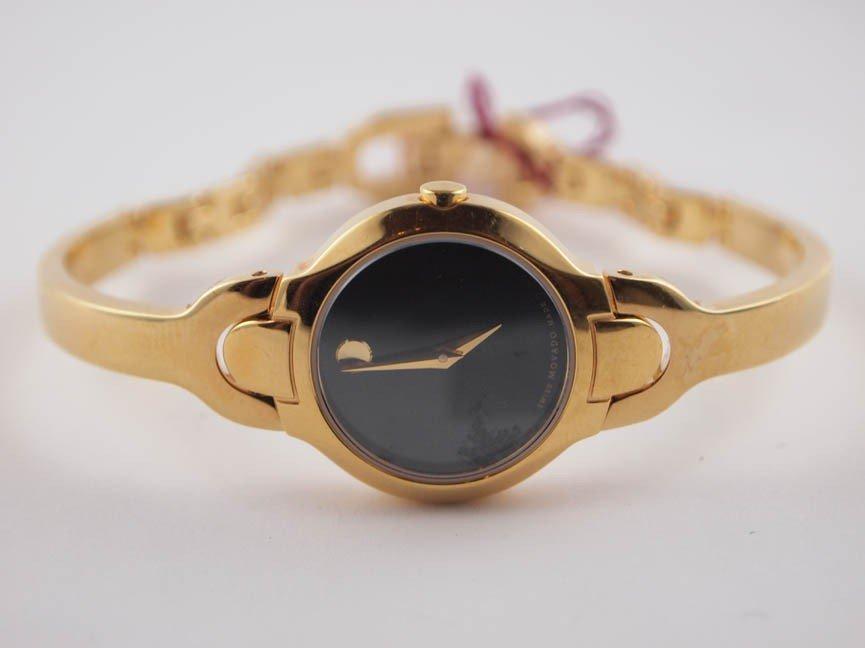 9: Movado Ladies SS Kara Watch. Gold Tone.