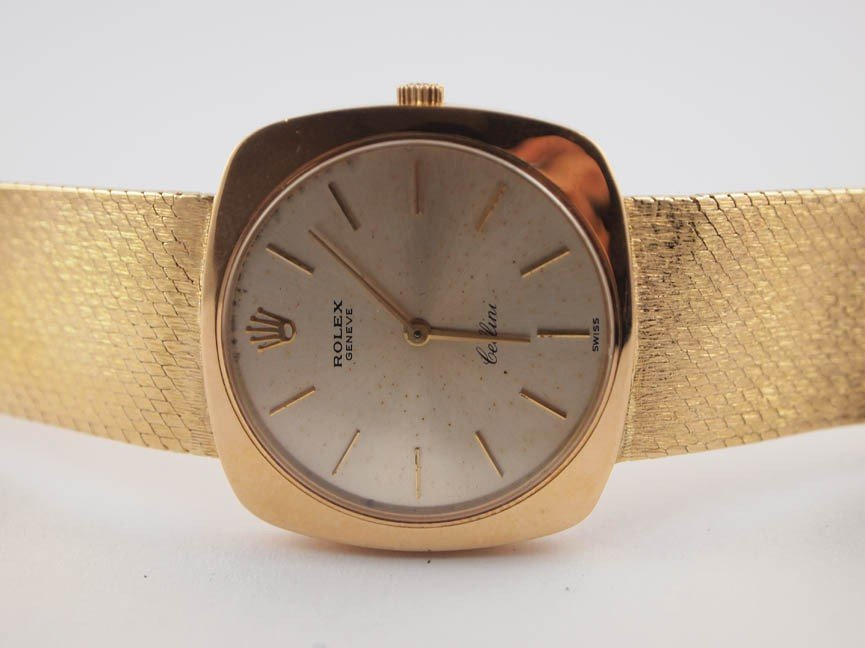 14: Rolex Mens 18k Cellini Dress Watch.