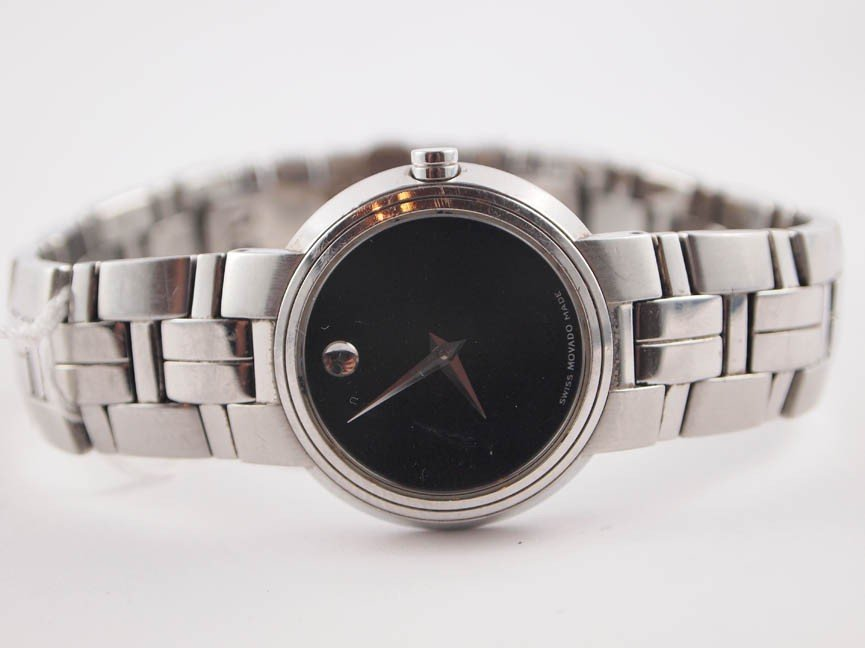22: Movado Ladies SS Museum Watch.