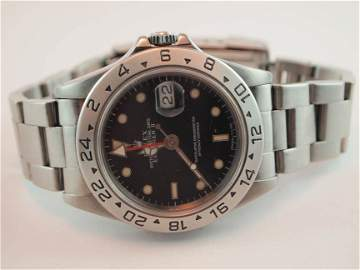27: Rolex Mens SS Explorer II w Date.