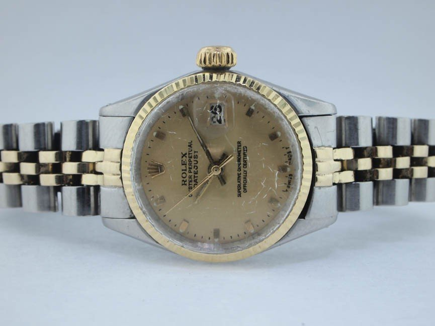 3: Rolex Ladies 18k and Stainless Steel Datejust.