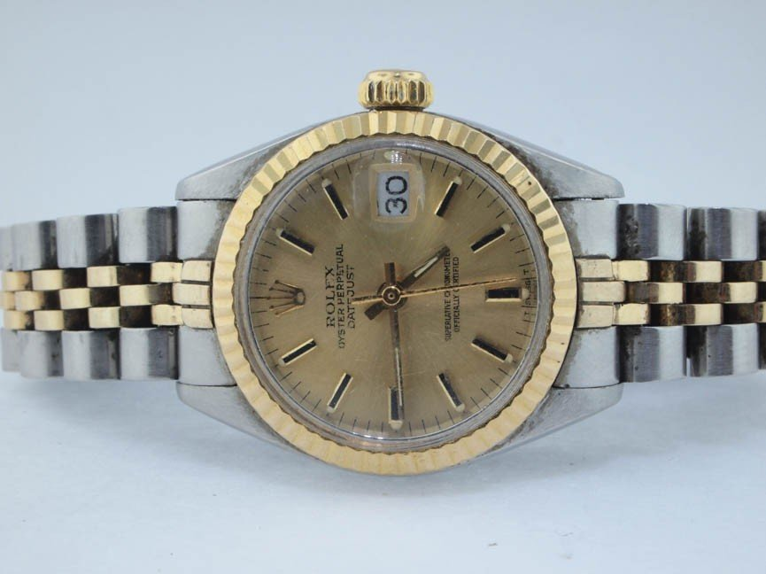 7: Rolex Ladies 14k and Stainless Steel Datejust