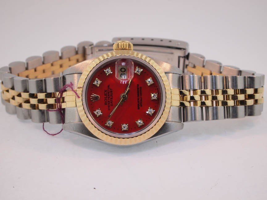 9: Rolex Ladies 18k Gold and Stainless Steel Datejust