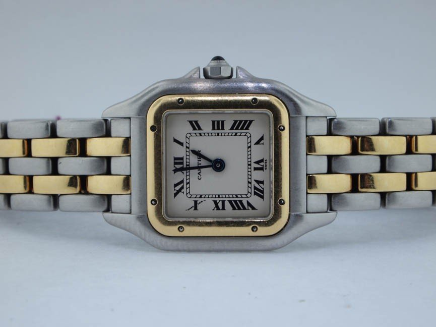 10: Cartier Ladies 18k and Stainless Steel Panthere
