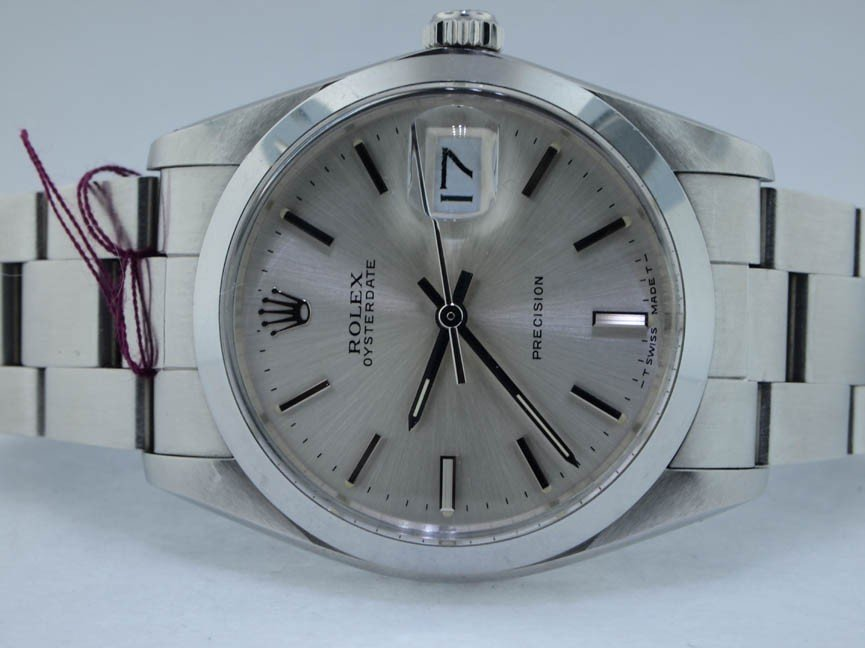 14: Rolex Mens Stainless Steel Oysterdate with Papers.