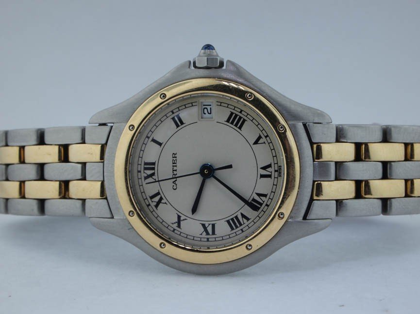 15: Cartier Ladies 18k and Stainless Steel Cougar. 2 Ro