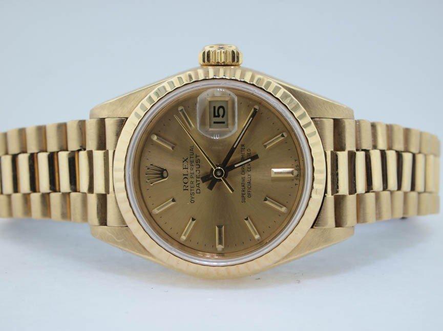 19: Rolex Ladies 18k President. Quickset. 1985.