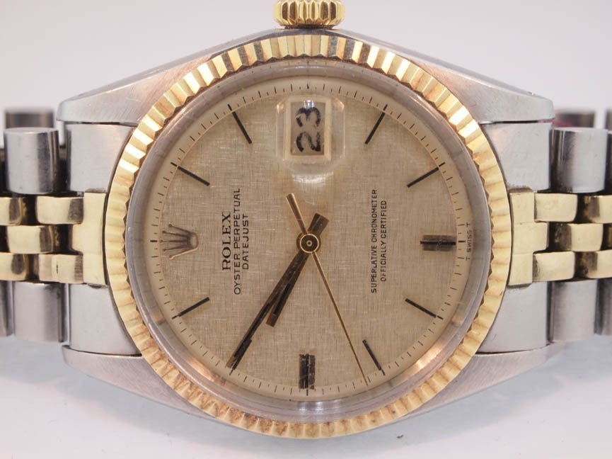 50: Rolex Mens 14K Gold and Stainless Steel Datejust.19