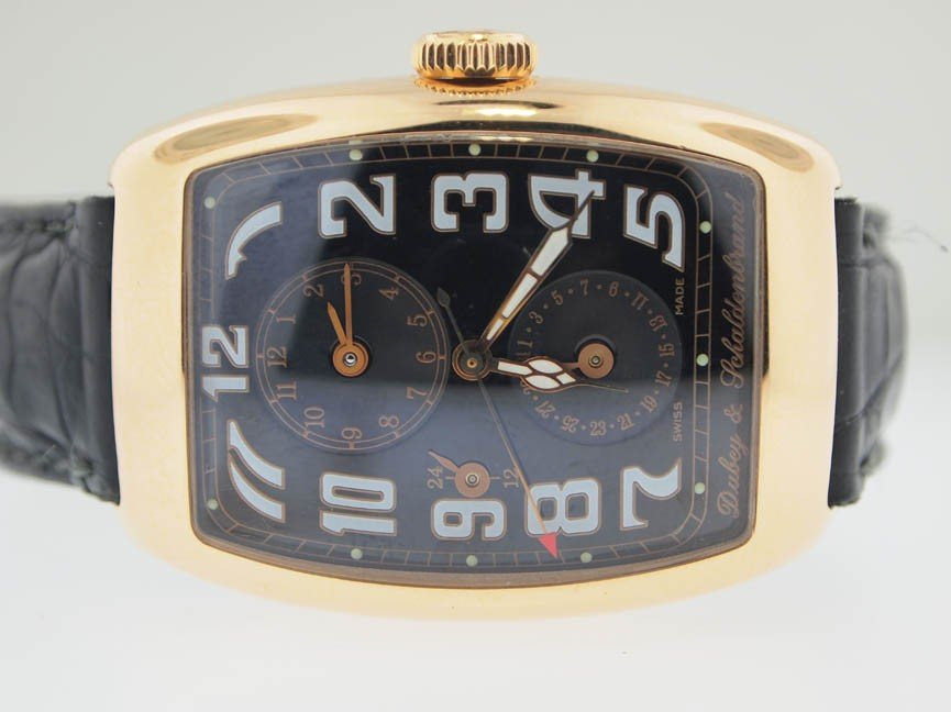 4: Dubey & Schaldenbrand Mens 18k Gold Dual Time Zone.